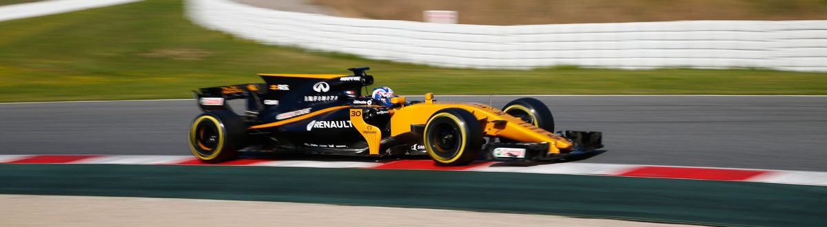 Motorsports: FIA Formula One World Championship 2017, Test in Barcelona, #30 Jolyon Palmer (GBR, Renault Sport F1 Team)   *** Local Caption *** +++ www.hoch-zwei.net +++ copyright: HOCH ZWEI +++