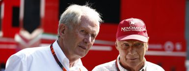 Motorsports: FIA Formula One World Championship 2015, Grand Prix of Belgium,  Dr. Helmut Marko (AUT, Infiniti Red Bull Racing), Niki Lauda (AUT, Mercedes AMG Petronas F1 Team),  *** Local Caption *** +++ www.hoch-zwei.net +++ copyright: HOCH ZWEI +++