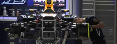 Motorsports: FIA Formula One World Championship 2014, Grand Prix of China,  garge of Red Bull, Chassis *** Local Caption *** +++ www.hoch-zwei.net +++ copyright: HOCH ZWEI +++
