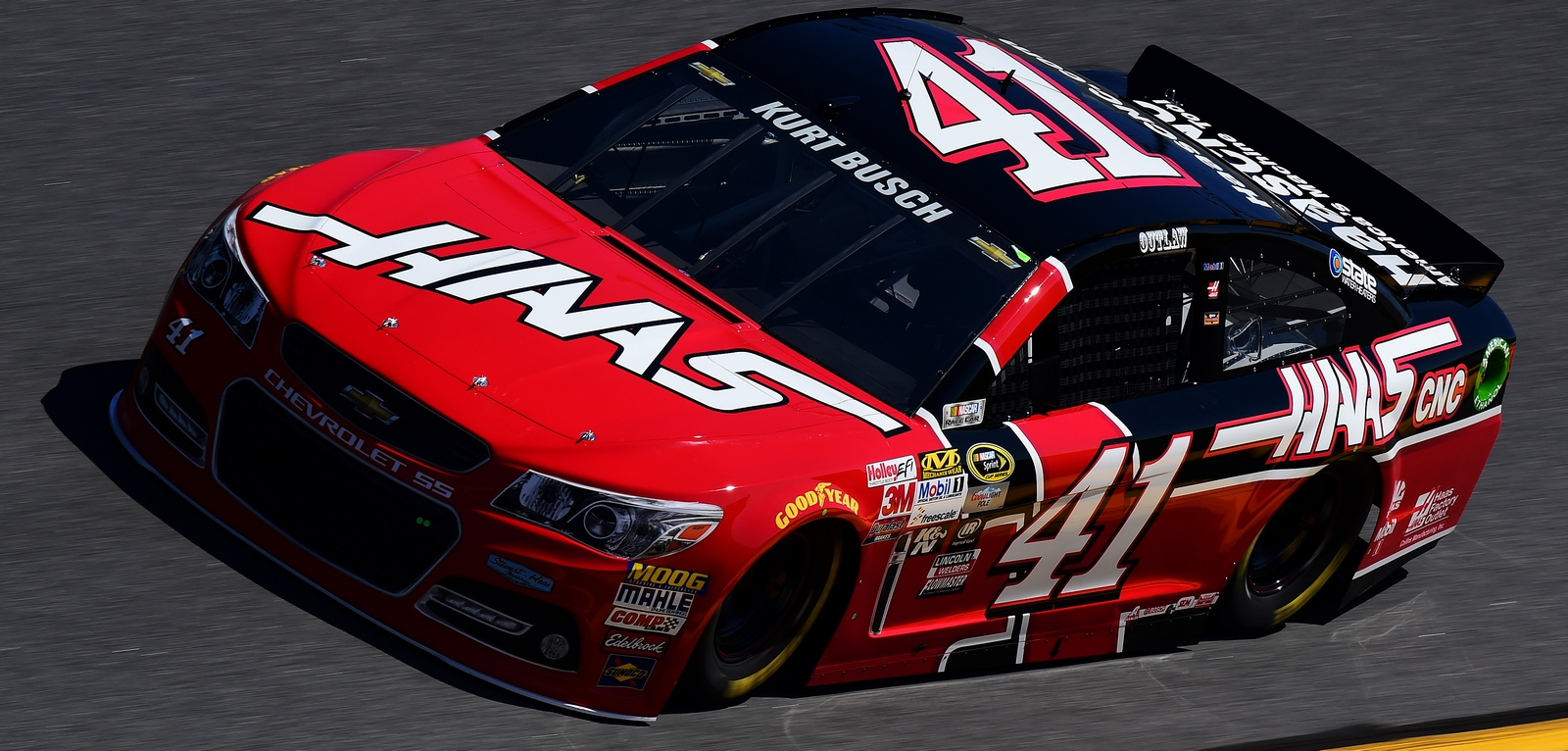 DAYTONA BEACH, FL - FEBRUARY 14:  Kurt Busch, driver of the #41 Haas Automation Chevrolet, practices for the 57th Annual Daytona 500 at Daytona International Speedway on February 14, 2015 in Daytona Beach, Florida.  (Photo by Robert Laberge/NASCAR via Getty Images)