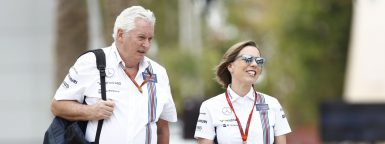 "Motorsports: FIA Formula One World Championship 2016, Grand Prix of Bahrain,  Patrick Bruce Reith ""Pat"" Symonds (GBR, Williams Martini Racing),  Claire Williams (GBR, Williams Martini Racing),  *** Local Caption *** +++ www.hoch-zwei.net +++ copyright: HOCH ZWEI +++"