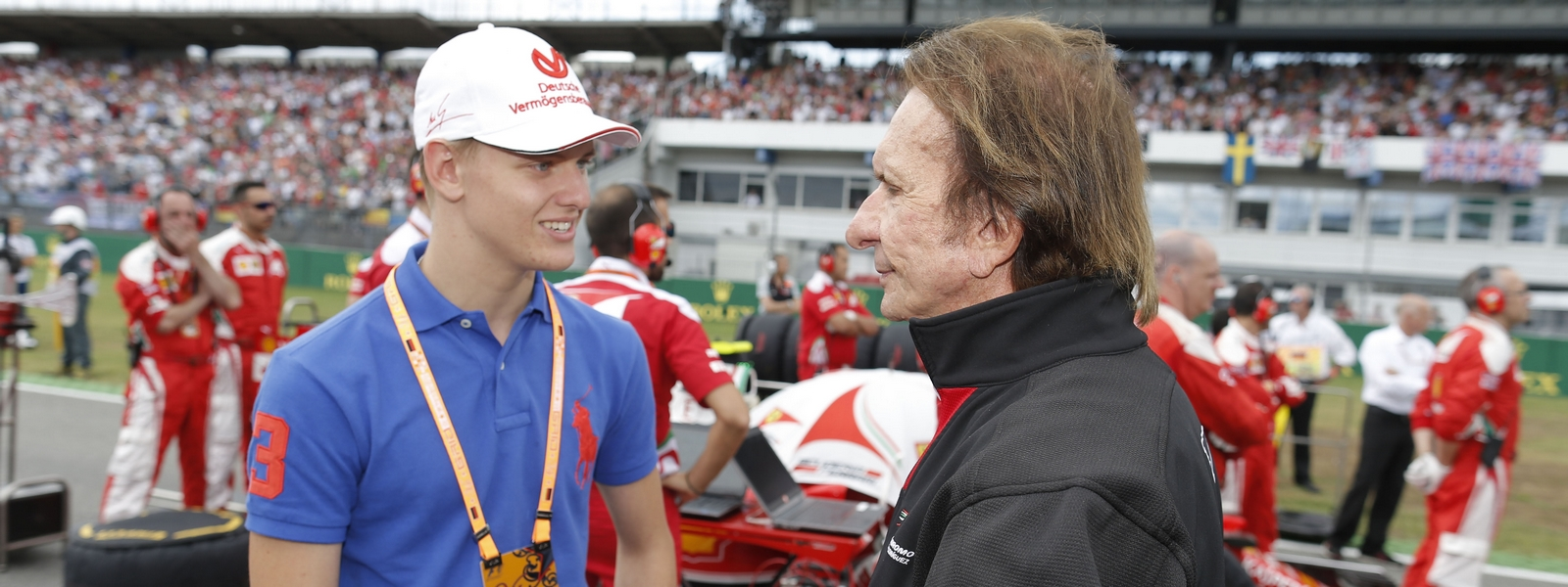 Motorsports: FIA Formula One World Championship 2016, Grand Prix of Germany,  Mick Schumacher, Emerson Fittipaldi *** Local Caption *** +++ www.hoch-zwei.net +++ copyright: HOCH ZWEI +++