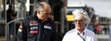 Motorsports: FIA Formula One World Championship 2013, Grand Prix of Spain,   Bernie Ecclestone (GBR, President and CEO of Formula One Management and Formula One Administration) , Franz Tost principal of the Scuderia Toro Rosso Formula One team. *** Local Caption *** +++ www.hoch-zwei.net +++ copyright: HOCH ZWEI +++