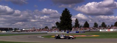 F1 in Indianapolis, Samstag 28.09.2002,  SAP United States Grand Prix, David Coulthard (McLaren) wird Dritter ©Tap/Hoch Zwei