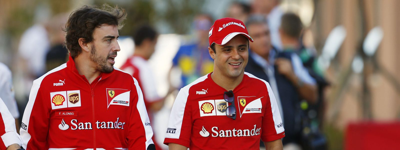Motorsports: FIA Formula One World Championship 2013, Grand Prix of Korea,  #3 Fernando Alonso (ESP, Scuderia Ferrari), #4 Felipe Massa (BRA, Scuderia Ferrari),  *** Local Caption *** +++ www.hoch-zwei.net +++ copyright: HOCH ZWEI +++