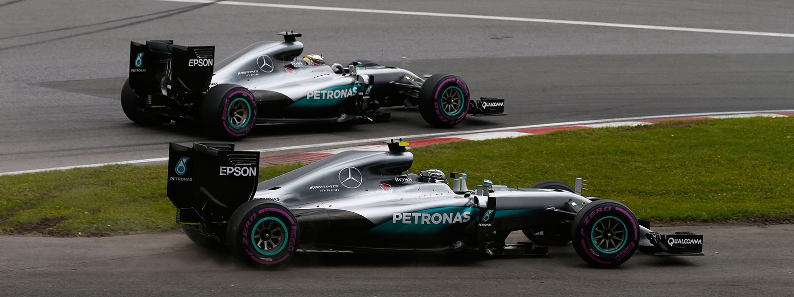 Motorsports: FIA Formula One World Championship 2016, Grand Prix of Canada, #44 Lewis Hamilton (GBR, Mercedes AMG Petronas F1 Team), #6 Nico Rosberg (GER, Mercedes AMG Petronas F1 Team), *** Local Caption *** +++ www.hoch-zwei.net +++ copyright: HOCH ZWEI +++