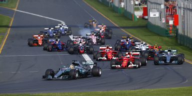 Melbourne, Victoria : Motorsports: FIA Formula One World Championship 2017 on March, 25, 2017, Melbourne: FIA Formula One World Championship,  Lewis Hamilton (GBR, Mercedes AMG Petronas), Sebastian Vettel (GER, Scuderia Ferrari), Valtteri Bottas (FIN, Mercedes AMG Petronas) Australian Formula One Grand Prix at Albert Park on March 24, 2017 in Melbourne, Australia. (Photo by Hoch Zwei)