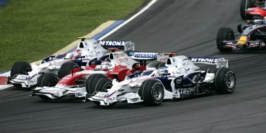 Motorsports / Formula 1: World Championship 2008, GP of Malaysia ,  04 Robert Kubica (POL, BMW Sauber F1 Team),  11 Jarno Trulli  (ITA, Panasonic Toyota Racing),  03 Nick Heidfeld (GER, BMW Sauber F1 Team),   *** Local Caption *** +++ www.hoch-zwei.net +++ copyright: HOCH ZWEI / Juergen Tap +++