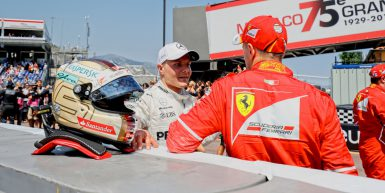 Motorsports: FIA Formula One World Championship 2017, Grand Prix of Monaco,  #77 Valtteri Bottas (FIN, Mercedes AMG Petronas F1 Team), #5 Sebastian Vettel (GER, Scuderia Ferrari),  *** Local Caption *** +++ www.hoch-zwei.net +++ copyright: HOCH ZWEI +++