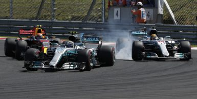 Motorsports: FIA Formula One World Championship 2017, Grand Prix of Hungary,  #77 Valtteri Bottas (FIN, Mercedes AMG Petronas F1 Team), #44 Lewis Hamilton (GBR, Mercedes AMG Petronas F1 Team), #33 Max Verstappen (NLD, Red Bull Racing),  *** Local Caption *** +++ www.hoch-zwei.net +++ copyright: HOCH ZWEI +++
