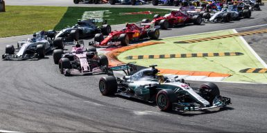 Motorsports: FIA Formula One World Championship 2017, Grand Prix of Italy,  Start, #44 Lewis Hamilton (GBR, Mercedes AMG Petronas F1 Team), #31 Esteban Ocon (FRA, Sahara Force India F1 Team), #18 Lance Stroll (CAN, Williams Martini Racing),  *** Local Caption *** +++ www.hoch-zwei.net +++ copyright: HOCH ZWEI +++