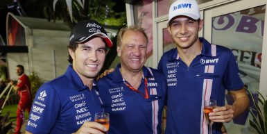 Motorsports: FIA Formula One World Championship 2017, Grand Prix of Singapore,  #11 Sergio Perez (MEX, Sahara Force India F1 Team), #31 Esteban Ocon (FRA, Sahara Force India F1 Team),  *** Local Caption *** +++ www.hoch-zwei.net +++ copyright: HOCH ZWEI +++