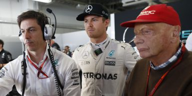 Motorsports: FIA Formula One World Championship 2016, Grand Prix of Japan,  Toto Wolff (AUT, Mercedes AMG Petronas Formula One Team), #6 Nico Rosberg (GER, Mercedes AMG Petronas Formula One Team), Niki Lauda (AUT, Mercedes AMG Petronas Formula One Team),  *** Local Caption *** +++ www.hoch-zwei.net +++ copyright: HOCH ZWEI +++
