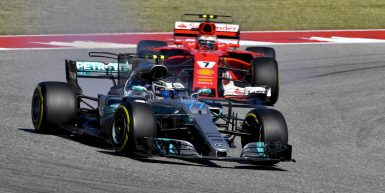 Motorsports: FIA Formula One World Championship 2017, Grand Prix of United States,  #77 Valtteri Bottas (FIN, Mercedes AMG Petronas F1 Team), #7 Kimi Raikkonen (FIN, Scuderia Ferrari),  *** Local Caption *** +++ www.hoch-zwei.net +++ copyright: HOCH ZWEI +++